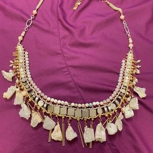 Lucky Brand Stone and Bead Necklace